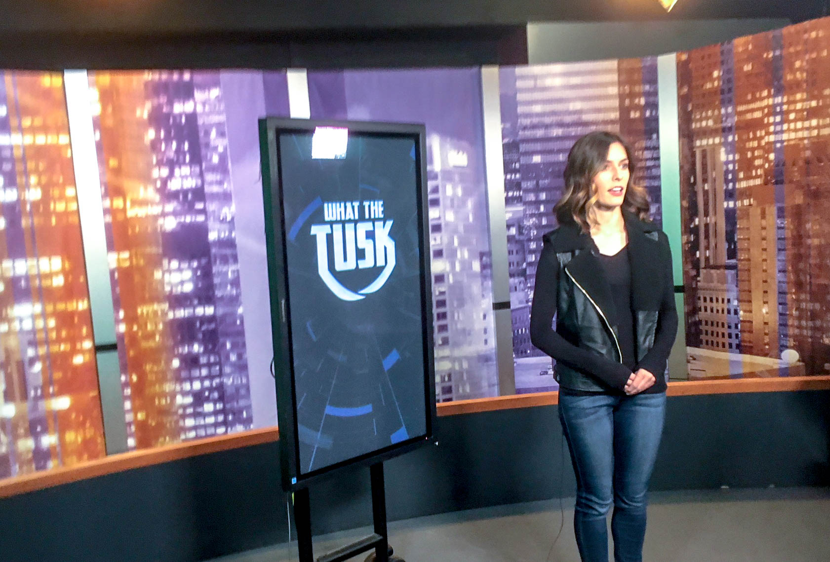 Titan Sports what the tusk segment taping