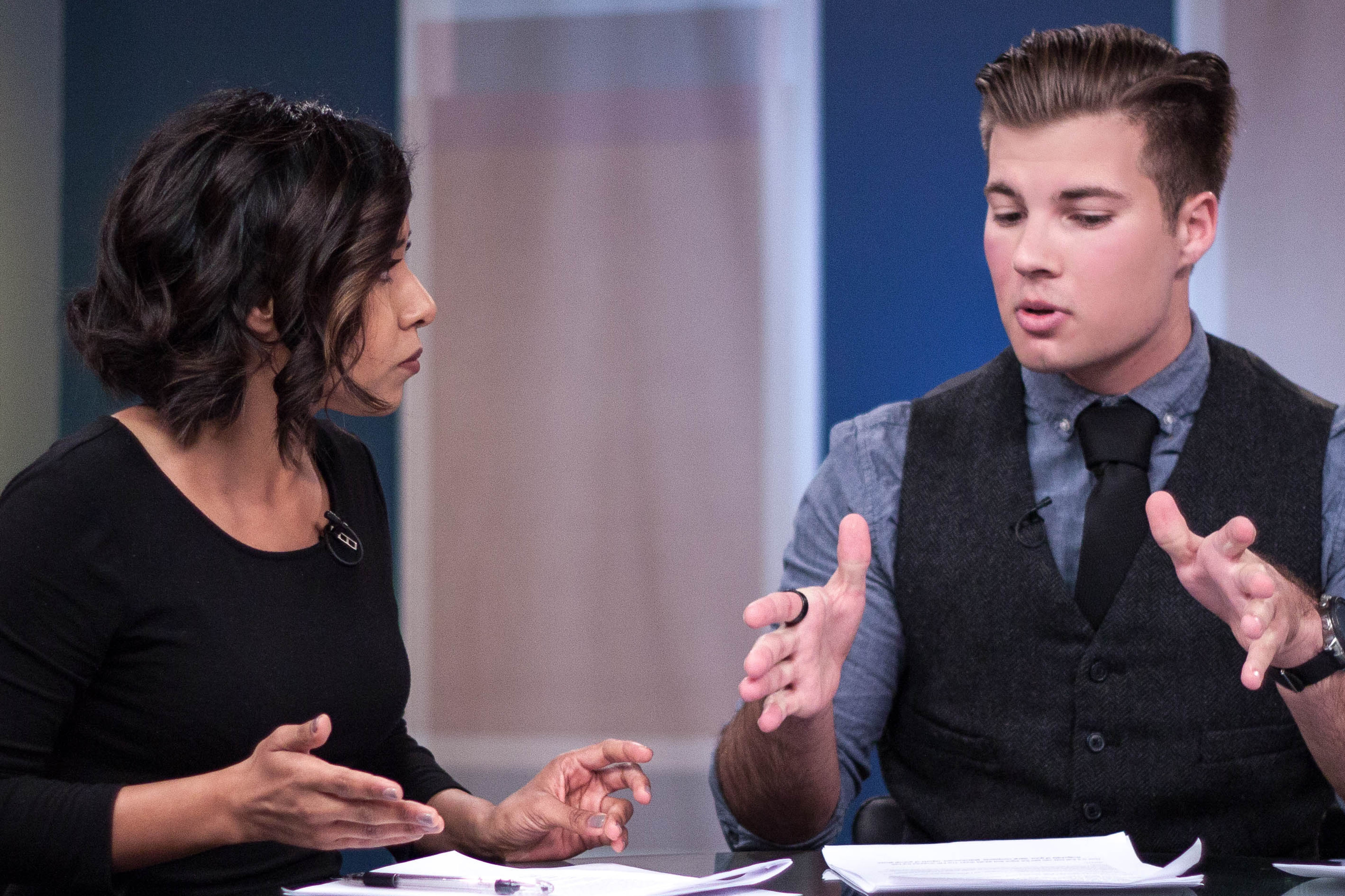 the report production still with two anchors